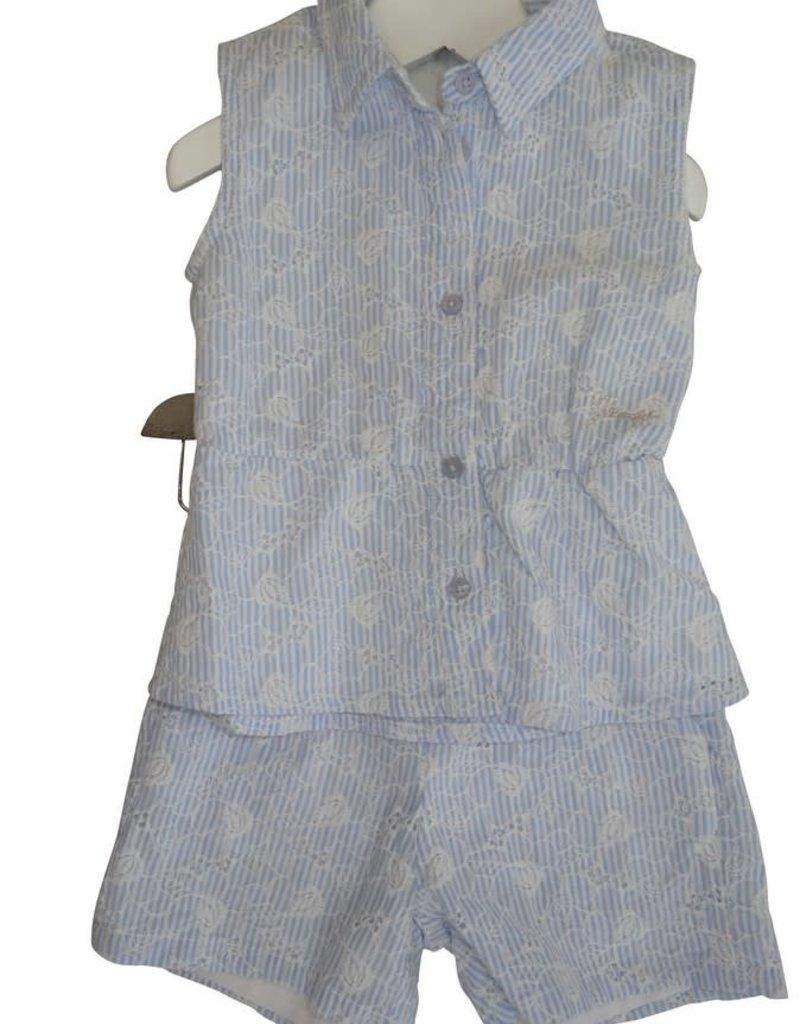 Guess blouse licht blauw wit bloem