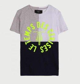 Le temps des cerises T-shirt blauw/grijs/wit