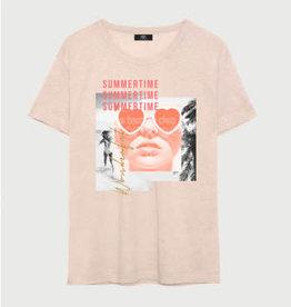 Le temps des cerises T-shirt oranje fluo summertime