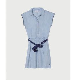 Le temps des cerises jurk jeans lichte kleur