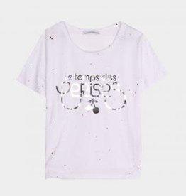 Le temps des cerises T-shirt wit logo goud