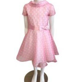 Blue Bay Party  jurk roze met witte bolletjes Bliss