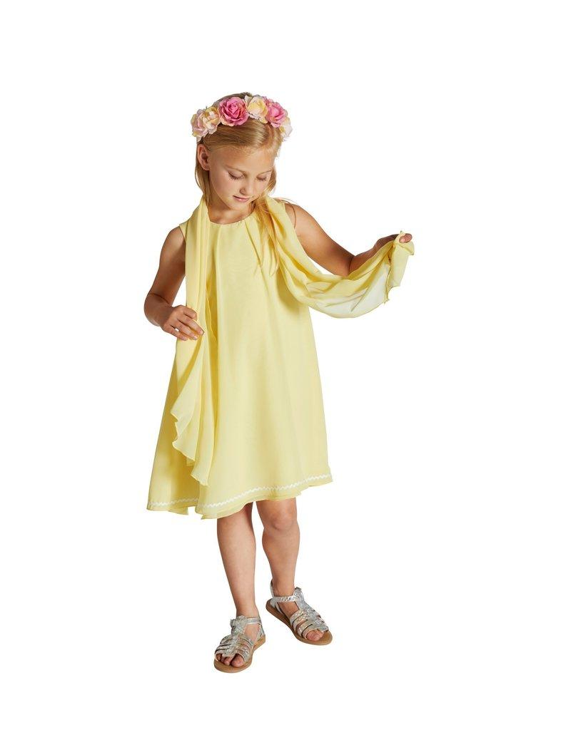 Blue Bay Party  jurk geel voile + sjaal Breonna