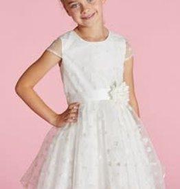 Blue Bay Party  jurk ecru hartjes Blanca