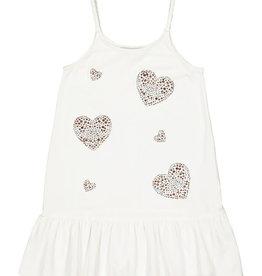 Twinset jurk strandjurk ecru glitter