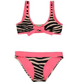 Twinset bikini zebra fluo roze