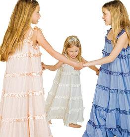 Twinset jurk lang ecru volants