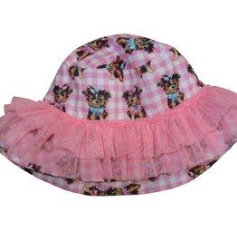 Selini hoed hond roze tule
