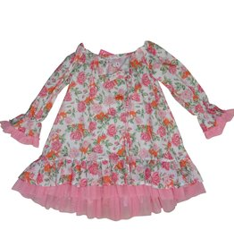 Selini jurk rozen oranje roze kaftan