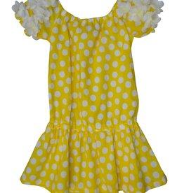 Selini jurk gele bollen