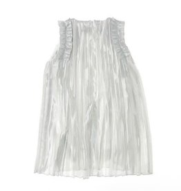 Liu Jo jurk plisse zilver ecru