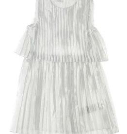 Liu Jo jurk plisse 1 ecru zilver