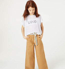 Liu Jo broek wijd camel beige
