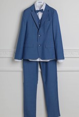 Aletta kostuum blazer gilet broek hemd strik cobalt