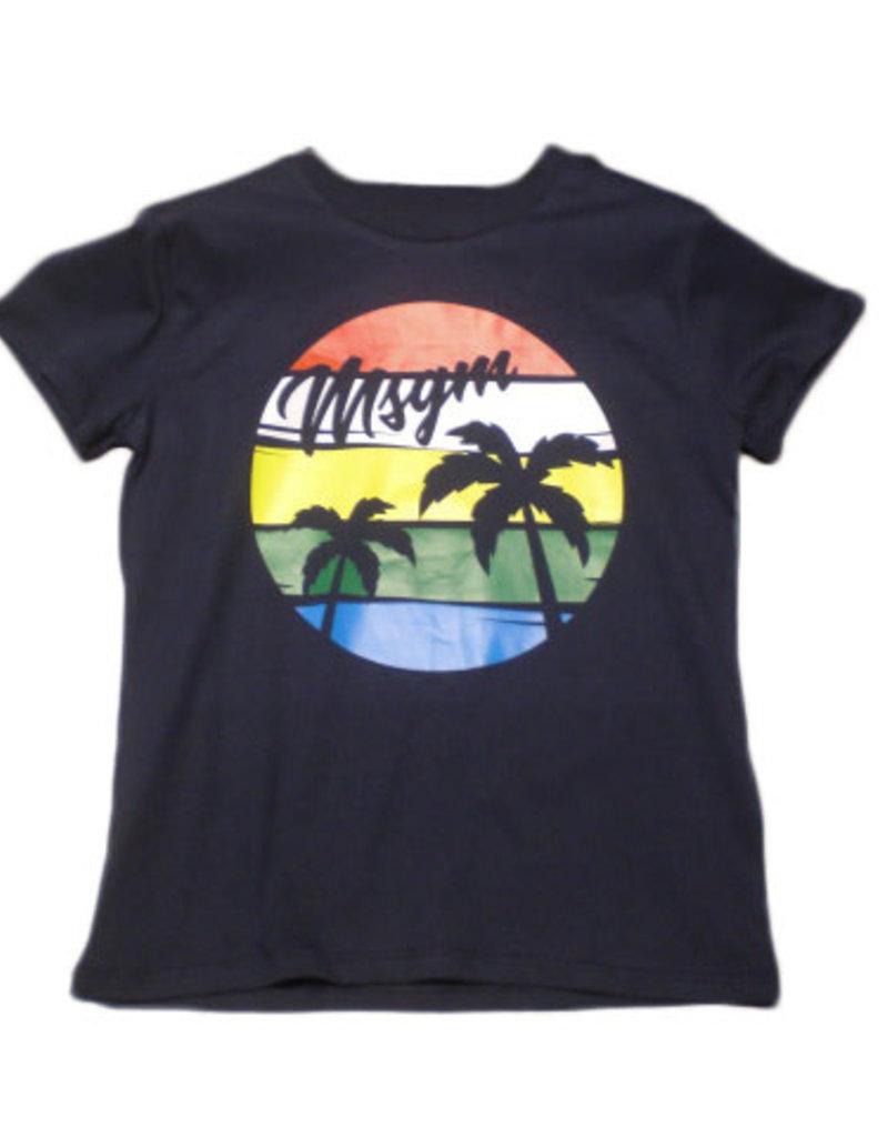 MSGM T-shirt blauw cobalt