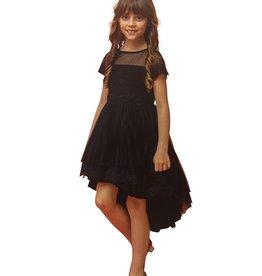 Aletta jurk zwart tule achter langer