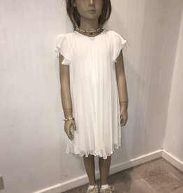 Aletta jurk voile plissé ecru