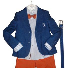 Aletta hemd streep blauw wit