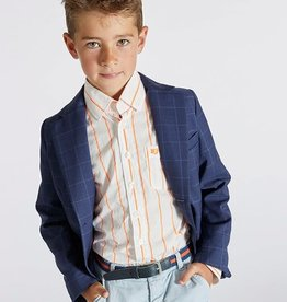 Blue Bay Party  blazer blauw Rob ruit lichtblauw