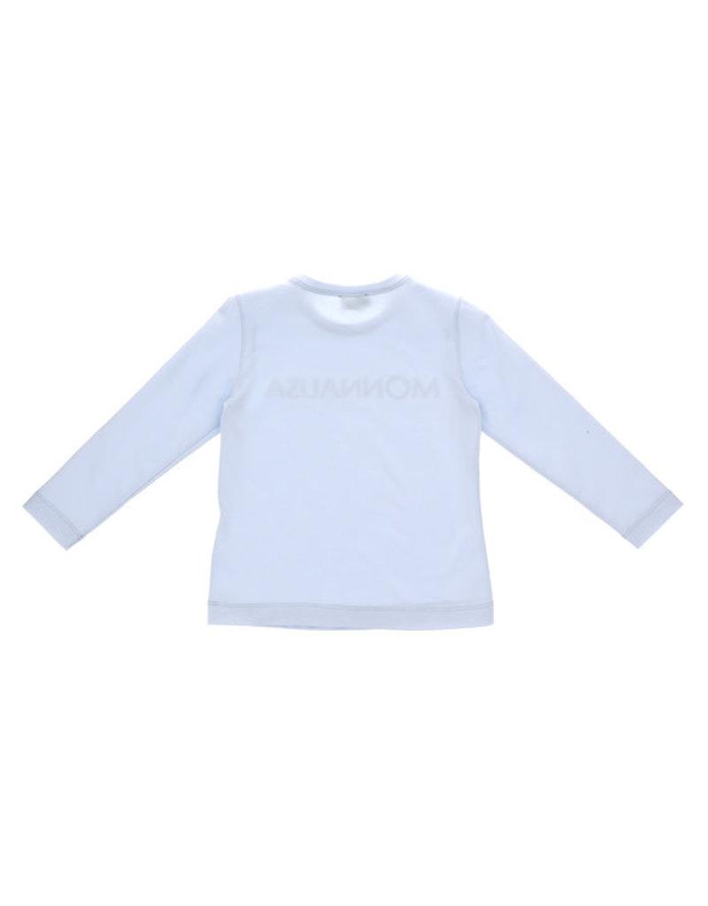 Monnalisa 1 T-shirt licht blauw logo strass