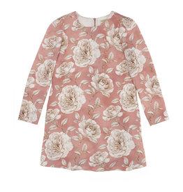 Monnalisa 1 jurk zalm ecru bloemen