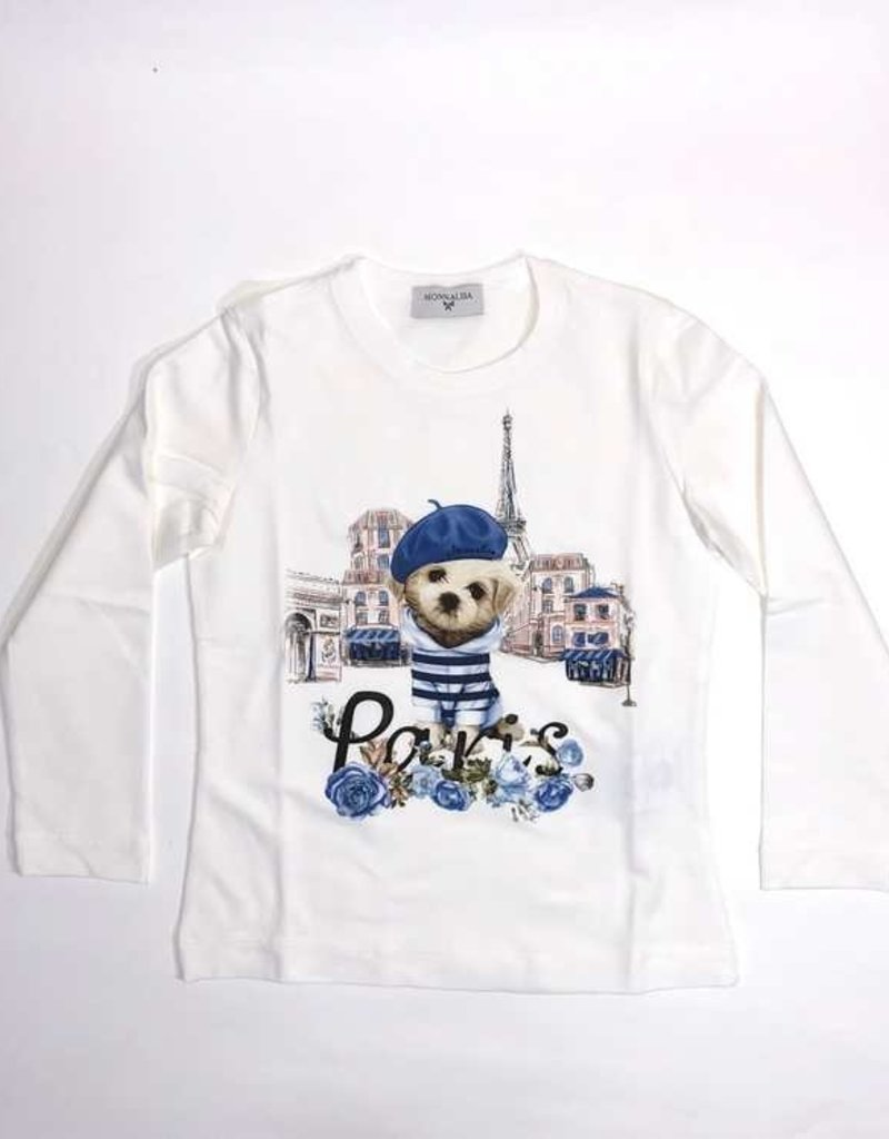 Monnalisa 1 T-shirt ecru Paris
