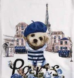 Monnalisa  T-shirt ecru Paris