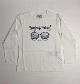 Monnalisa  T-shirt lm bonjour Paris