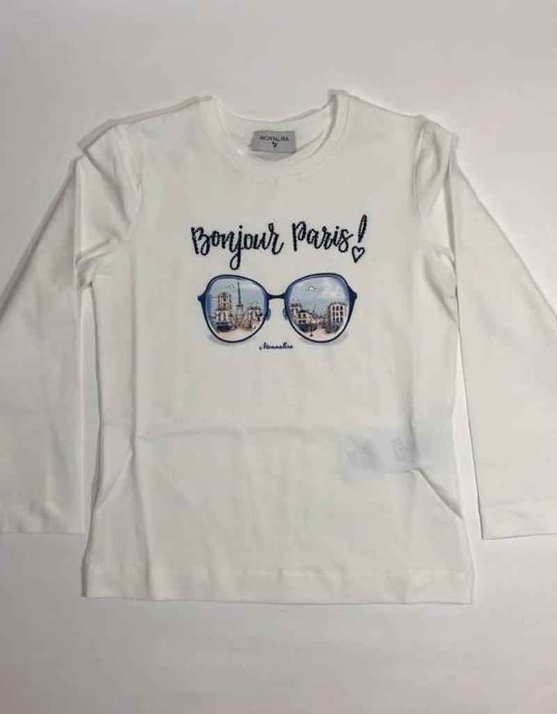 Monnalisa 1 T-shirt lm bonjour Paris