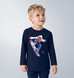 Mayoral T-shirt blauw snowboarder
