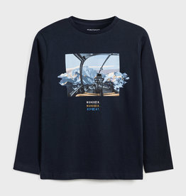 Mayoral T-shirt blauw helikopter