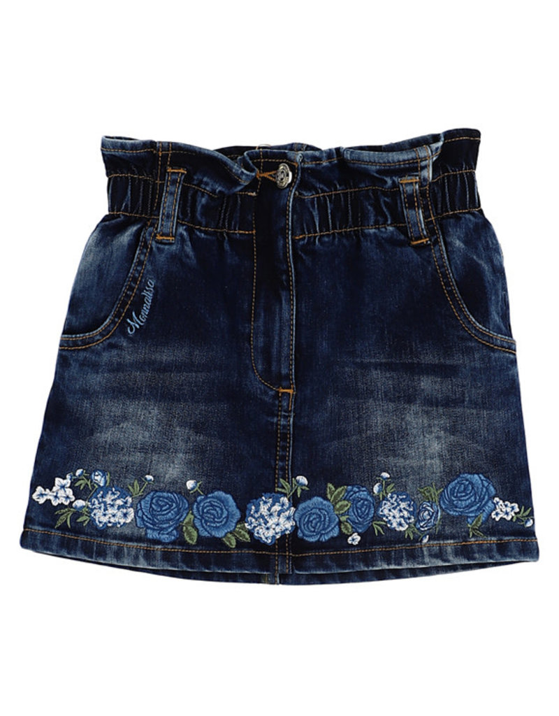 Monnalisa 1 rok jeans bloemen