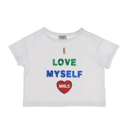 Monnalisa  T-shirt wit love myself