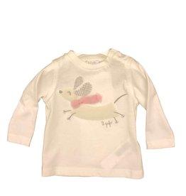 Il Gufo t-shirt wit hond sjaal