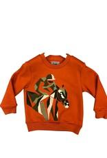 Il Gufo sweater terracotta paard