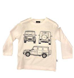 Il Gufo t-shirt wit met jeeps
