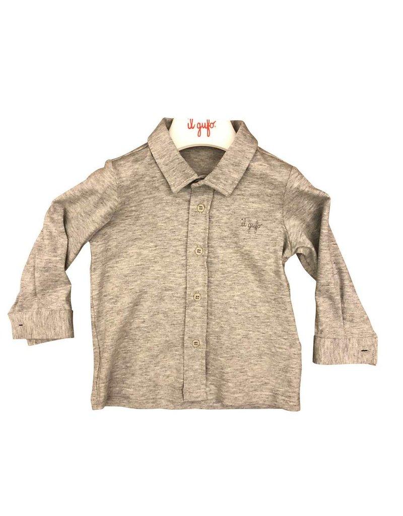 Il Gufo hemd grijs jersey