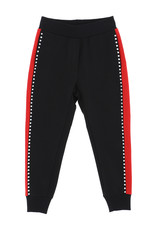 Monnalisa broek zwart strass rood