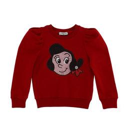 Monnalisa sweater rood olijfje