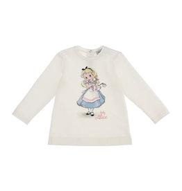 Monnalisa T-shirt ecru baby Alice