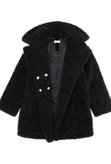 Monnalisa jas zwart alpaca look