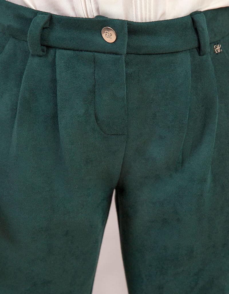 Abel&Lula broek donker groen suedine