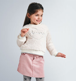 Mayoral rok rib rose zalm