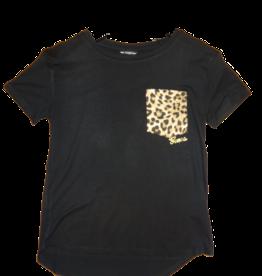 Guess t-shirt zwart leopard zakje