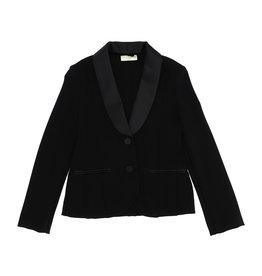 Monnalisa blazer zwart sjaal kraag