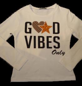 Elsy t-shirt ecru good vibes