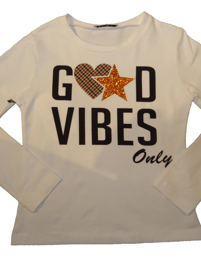 Elsy t-shirt ecru good vibes