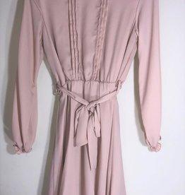 Kocca jurk lange mouwen nude