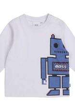 Boss t-shirt wit en blauw