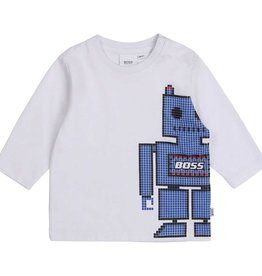 Boss t-shirt wit en blauw
